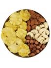 Подарочная круглая коробка орехов Nuts Box Premium Pineapple