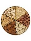 Подарочная круглая коробка орехов Nuts Box Premium Pistachio