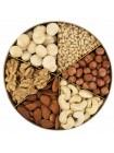 Подарочная круглая коробка орехов Nuts Box Premium Macadamia