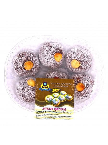 Джезерье атом в кокосовой стружке с фундуком 200гр