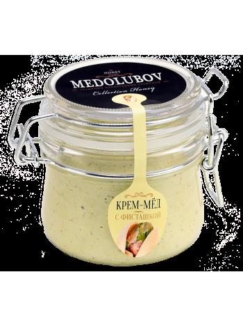 Мёд Медолюбов c фисташкой 250мл (бугель)