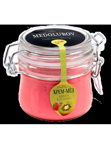 Крем-мёд Медолюбов киви с клубникой (бугель) 250мл