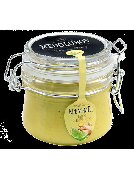 Крем-мёд Медолюбов лайм с имбирем (бугель) 250мл