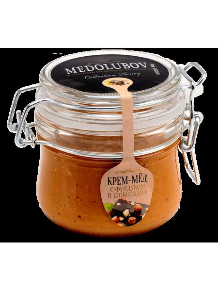 Крем-мёд Медолюбов шоколад с фундуком (бугель) 250мл