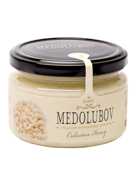Крем-мёд Медолюбов с воздушным рисом 250мл