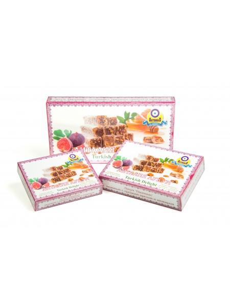 Лукум  «Падишах» медовый с грецким орехом и инжиром (упаковка 450гр)