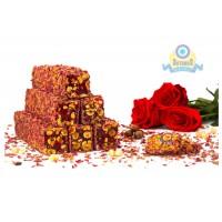 Лукум королевский роза с фундуком в розовых лепестках 200гр
