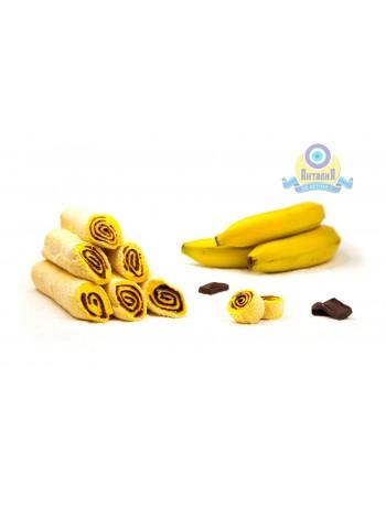 Рулет банановый с крем шоколадом в кокосовой стружке