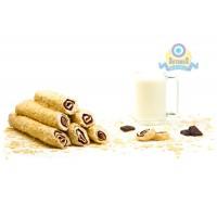 Рулет молочный с крем шоколадом в арахисовых лепестках 200гр