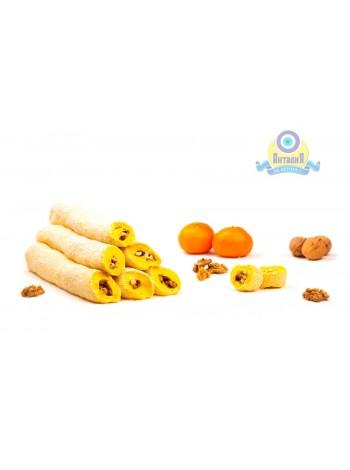 Суджук мандариновый с грецким орехом в кокосовой стружке