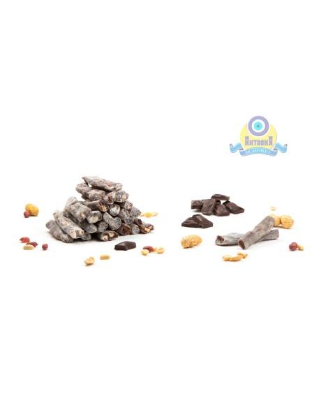 Лукум Пальчики шоколадные с арахисом (новинка) 200гр