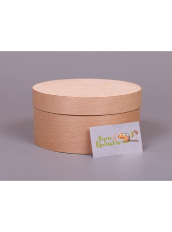 Подарочная круглая коробка из шпона Nuts Box без логотипа