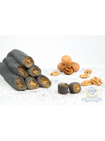Суджук медовый с маком и грецким орехом 200гр