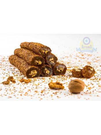 Суджук ванильный с грецким орехом и кунжутом